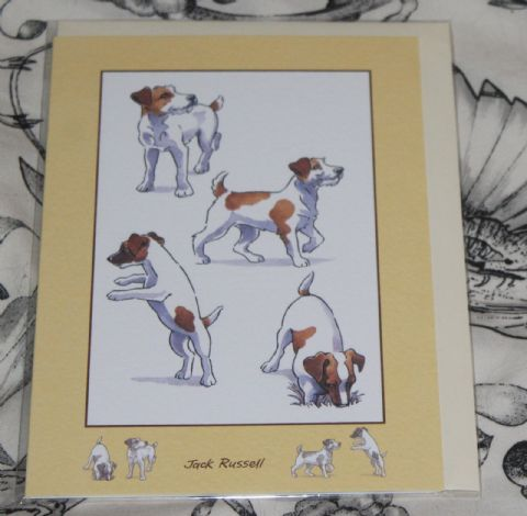 JACK RUSSELL GREETINGS CARD with pictures of the breed